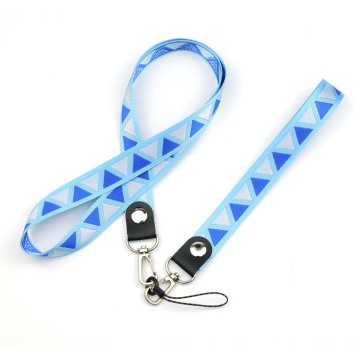 Promotionele duurzame badge lanyards met logopatroon