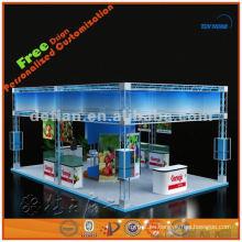 Diseño de exhibición del braguero de la exposición 6x9, exportación de la producción de la cabina de exhibición de la exhibición al exterior