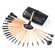 Hot Sale 24PCS Cosmetic Makeup Brush with Wood Handle