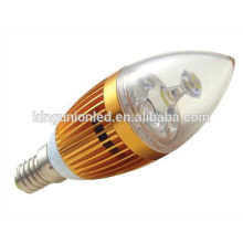 Diferentes tipos de modelo de alumínio de design / vidro RGB LED luz da vela