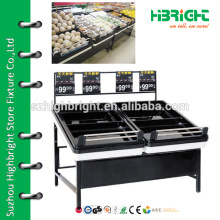 Obst-und Gemüse-Display-Ständer, Supermarkt Holz Gemüse und Obst Regal