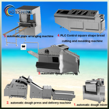 Easy operate cube shape steam bun production line