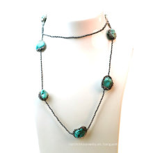 Collar al por mayor de la turquesa de la manera para la señora Jewelry de la mujer
