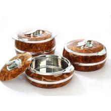 Casseroles isolées en acier inoxydable Hot Pot