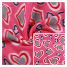 Polar Fleece Fabric Two Sides Brushed Fleece Fabric Polyester Fleece Fabric Heart Pattern Printed