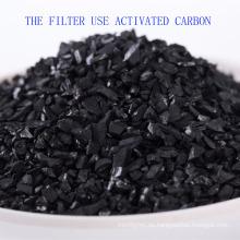 Uso del filtro de agua de bebida Carbón activado de cáscara de coco