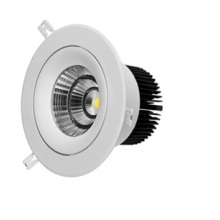 Luz LED interior COB 10W con carcasa blanca