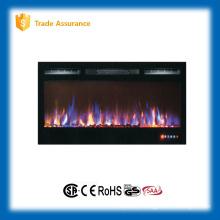 """36 """"recesso cristal imitação mista cor fogo aquecedor elétrico com painel de toque"""