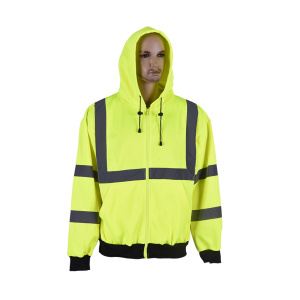 high visibility sport sweatshirt with reflective tape