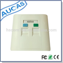 Factory supply network cable and dual port faceplate for inserting rj45 modular jack hot sell