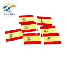 cheapest of polyester Spain hand flag International