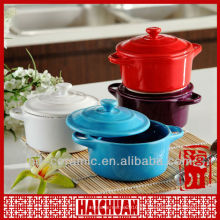 Cazuela de cerámica con tapa, cazuela con tapa