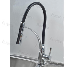 Rubber Neck Rotatable Spout Switch on The Head Single Handle Kitchen Faucet Sink Water Mixer Tap