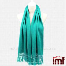 Горячие модные однотонные бирюзовые платки из кашмирского шарфа для женщин