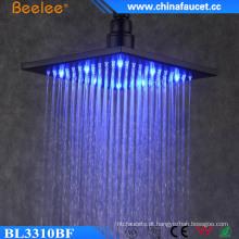 Chuveiro luxuoso da cabeça do diodo emissor de luz da economia da água de 10 polegadas do banheiro