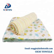 Organic Muslin Bamboo Swaddle Blanket - Newborn Boys and Girls Soft Receiving Baby Swaddling Blankets