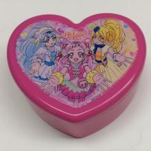 Boîte à bijoux en plastique en forme de coeur avec miroir