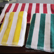 Toalha tingida de fio para toalha de praia toalha de piscina (DPF10103)