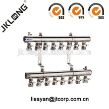 F616 Messingverteiler mit Kugelhähnen für Heizsystem