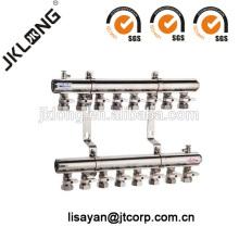F616 Colector de latón con válvulas de bola para sistema de calefacción