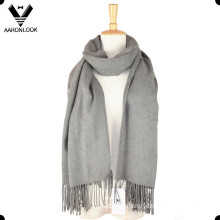 Women Solid Color Plain Checked Cotton Scarf Shawl Wrap
