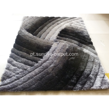 Silk Shaggy 3D Carpet With Design