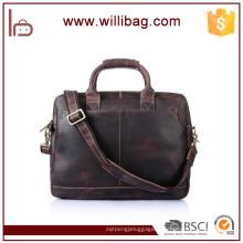 Serviette de mode en cuir véritable Business Briefcase pour hommes porte-documents pour ordinateur portable