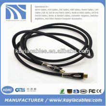 HDMI Cable with Ethernet Metal Shell Connector Supports 3D