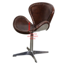 Leather & Iron Design Chair