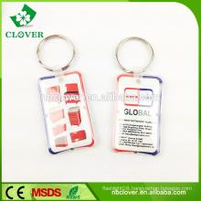 Sales promotion gift 1 LED plastic led keychain flashlight
