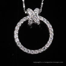 Шику Блестящий Круглый Мода Святить Цирконий Серебряные Ювелирные Изделия