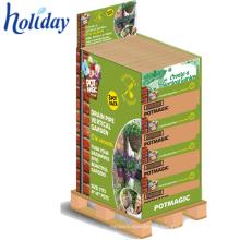 Affichage de 1/4 de palette pour les produits quotidiens, support promotionnel de palette de carton de supermarché