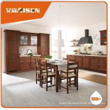 Gabinete de cocina de madera sólida de Hangzhou de la venta caliente