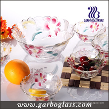Glass Fruit Bowl with Lily Design (GB1629LB/PDS)