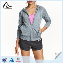 Women Sport Hoodie Wholesale Plain Full Zip Gym Sweatshirt Hoody