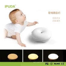 2017 Unique Smart Night Light pour bébé avec la conception de donut lumière capteur tactile