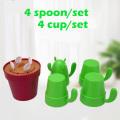 PLA Biodegradable Compostable Cactus Cups Set Mug Productos Artísticos
