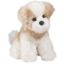 EN71 / ASTM doux peluche peluche chien blanc