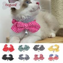 9 cloches réglables de collier de chat de chat d'écart réglable de cravate de chat