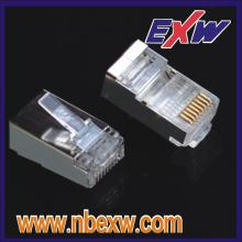 Conector Cat5 blindado 8P8C