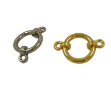 Botón del anillo de la hebilla de la aleación del cinc del metal del diseño de la novedad