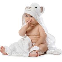 Bio Bambus mit Kapuze Baby Handtuch und Waschlappen Set ideal für Neugeborene, Kleinkinder und Kleinkinder Ultra weich und dick - Bär