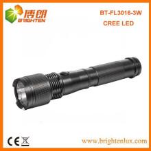 Factory Bulk Sale Heavy Duty Tactical Aluminium Metal XPE R3 3W cree led High Power Torch Lampe de poche avec 2C Battery