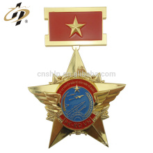 2018 promotional gold custom engraved metal military medallions
