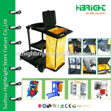 multifunction commercial hotel housekeeping carts with wheels
