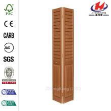 24 in. x 80 in. 3 in. Louver/Panel Golden Oak Composite Interior Bi-fold Door