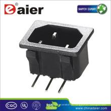 Soquete de tomada elétrica de alta qualidade com 3 flat pin / conector de tomada de corrente alternada
