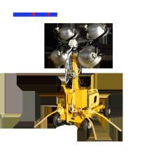 Torre de luz de mastro telescópico com halogeneto de metal 4 * 1000 W