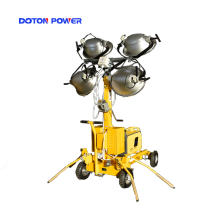 Telescopic Mast Light Tower With 4*1000W Metal Halide
