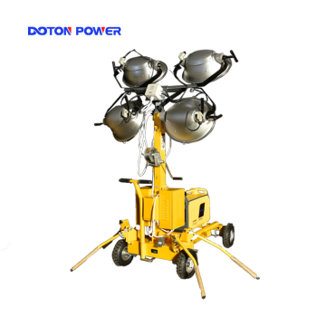 Tour d'éclairage à mât télescopique avec halogénure métallique 4 * 1000W